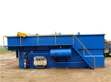 河北沧州3方溶气气浮机安装完成调试出水