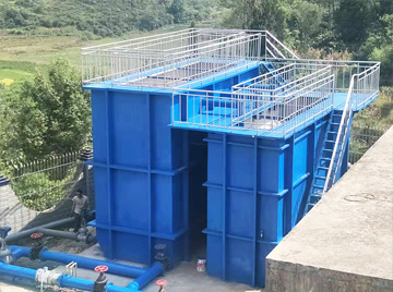 一体化净水处理设备安装现场